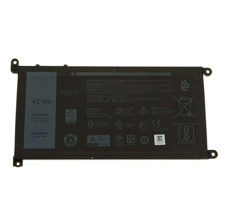 42Wh 11.4V Dell Y07HK 51KD7 K5XWW J0PGR 6CYH6 725KY 0FY8XM compatibele Accu