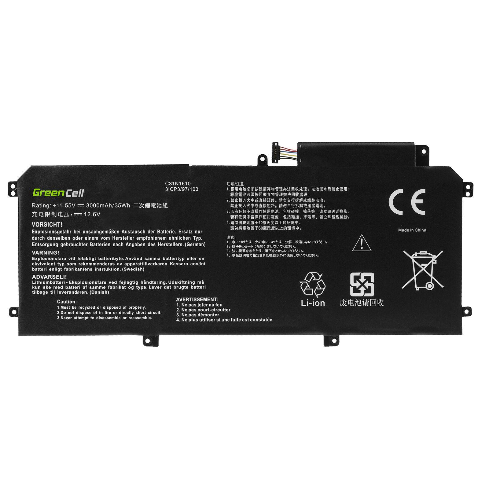 3000mAh Asus ZenBook UX330C UX330CA C31N1610 compatibele Accu