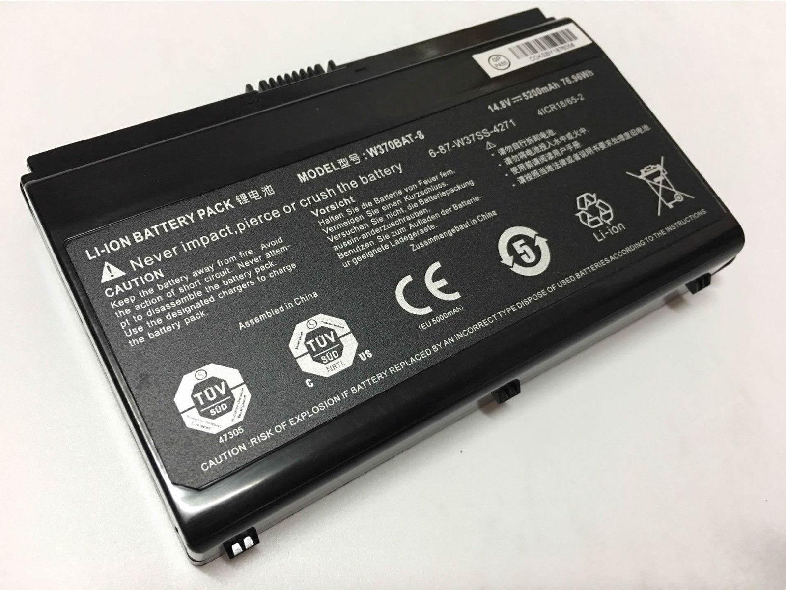 W370BAT-8 Clevo W350et W350etq W370et Sager Np6350 Np6370 compatibele Accu