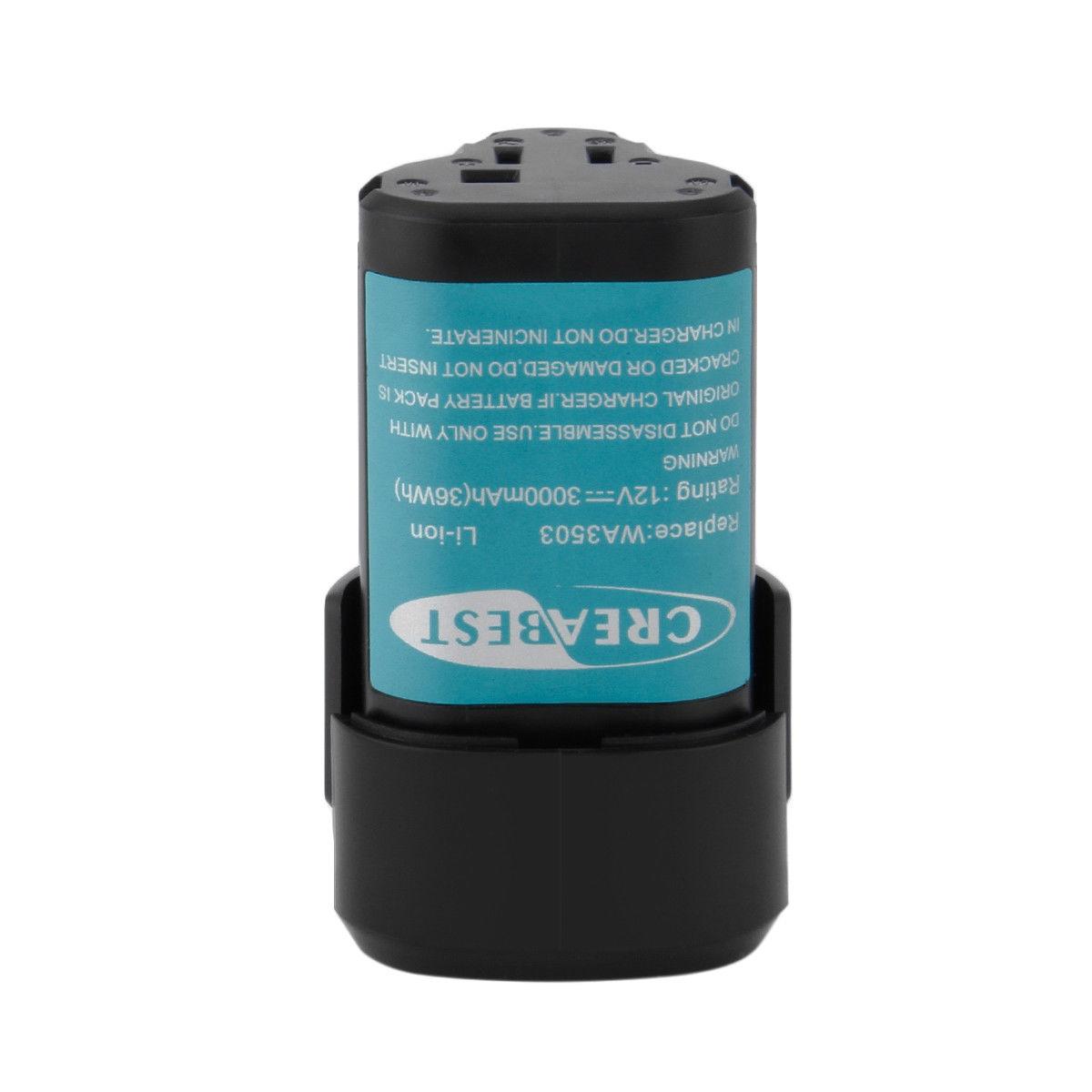 WA3503 WA3509 RW9300 WORX WX382 WX540 Rockwell RK2510K 12V compatibele Accu